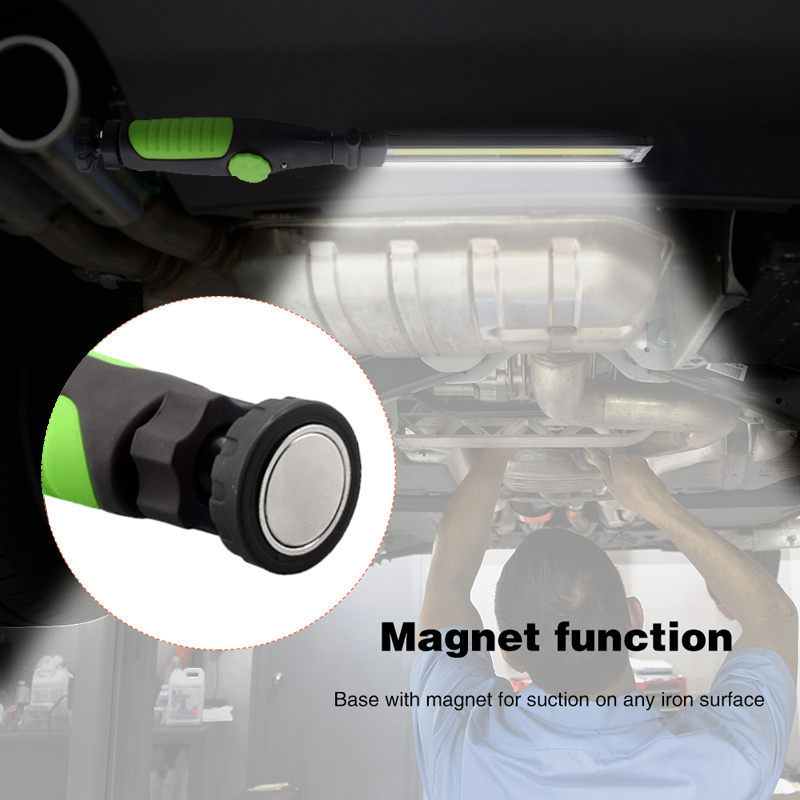 Купить с кэшбэком USB Rechargeable Working Light LED Torch Car COB Magnetic Repair Lamp Camping 410 lumens Multifunction Portable Light