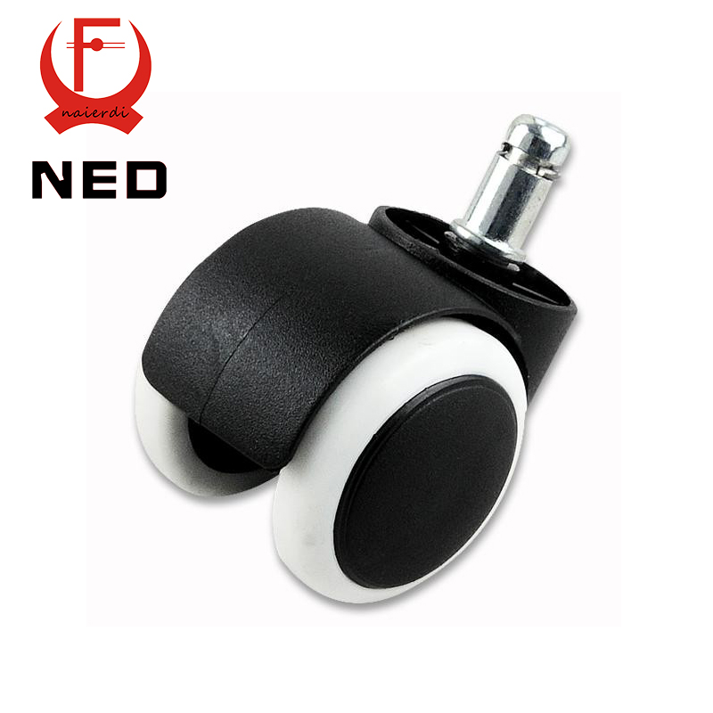 NED 50KG Universal Mute Wheel 2 Replacement Office Chair Swivel Casters Rubber Rolling Rollers Wheels Furniture Hardware 2pcs black plastic 40mm replacement angle brake swivel casters office chair sofa wheels rolling roller caster furniture hardware