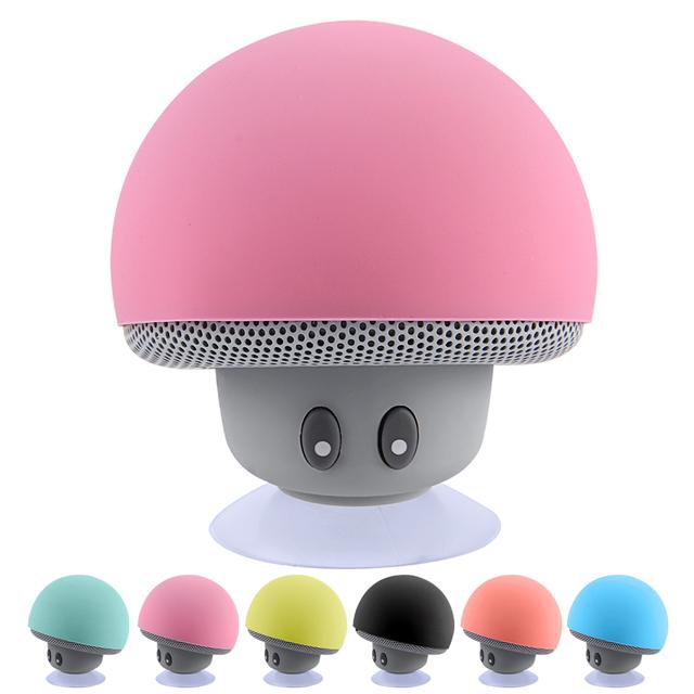 Portable Mushroom Shaped Waterproof Stereo Bluetooth Mini Loudspeaker