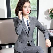 24f5700545 De las mujeres de la moda trajes de falda de un botón Blazer chaquetas y Mini  faldas dos piezas temperamento OL conjuntos mujer .