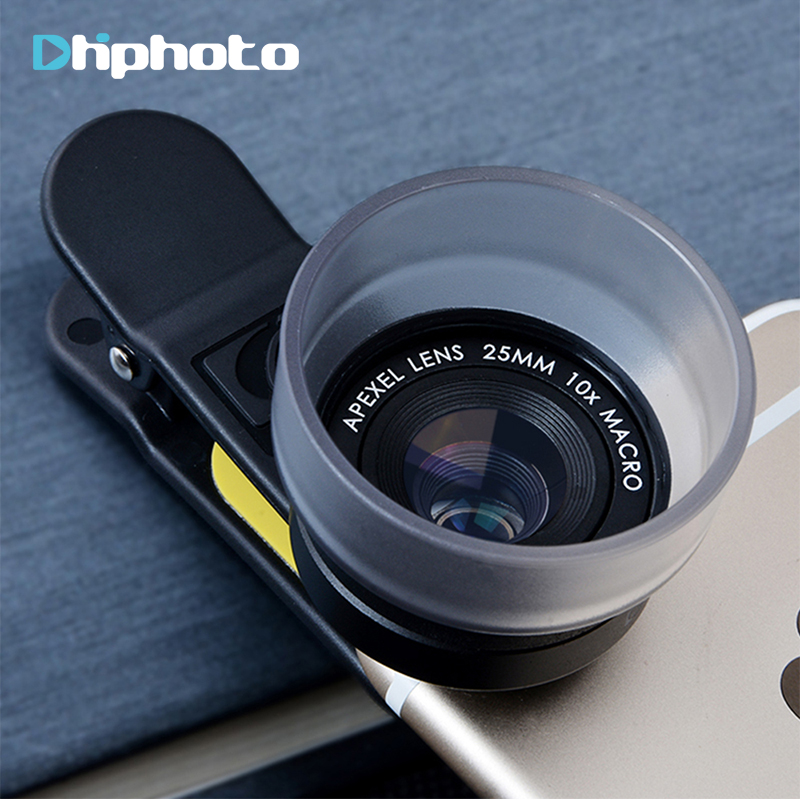 sports shoes f4d84 9c33d US $45.0 |Super Pro APEXEL 10X Macro Lens for iPhone 6s Plus ,for iPad  Samsung Clip on Cell Phone Camera Lenses to Take Close up Photos-in Mobile  ...