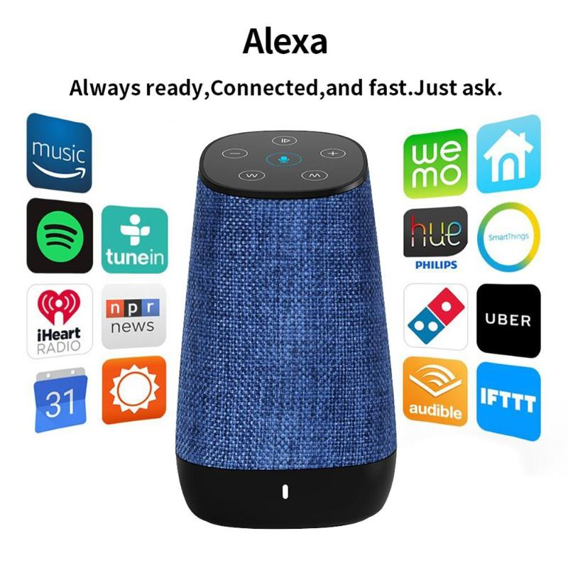 MXQ 2 in 1 USB Portable Wireless WiFi Smart Voice Control Bluetooth Speaker for DIDA Amazon Alexa Portable Audio Speaker original xiaomi mi speaker mini 2 4g wifi voice smart speaker wireless portable speaker bluetooth 4 1 with 4 mic of smart home