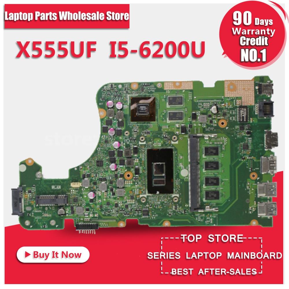 X555UF i5-6500 4GB RAM cpu For ASUS X555U F555U X555UJ X555UB X555UQ F555U A555U K555U laptop motherboard 100% tested все цены