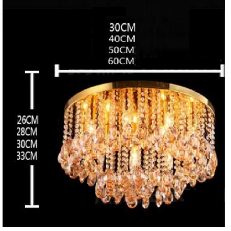 Image 5 - Round Crystal Ceiling Light For Living Room Indoor Lamp luminaria home decoration Crystal Ceiling Light Fixtures For Bedroom-in Ceiling Lights from Lights & Lighting