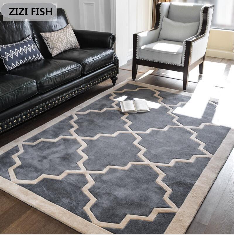 ZIZI poisson haute qualité tapis rond table basse chambre salon tapis jardin enfants tapis ordinateur chaise pivotant coussin