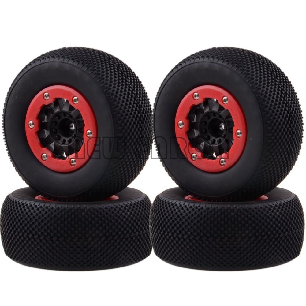 4x 12MM Hub Wheel Rim & Tyres,Tires 1182-16 Fit RC 1/10 Traxxas Slash 4x4 Racing кронштейн для тв kromax star 22