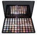 Envío libre Pro 88 Warm Color Sombra de Ojos Paleta de Maquillaje de Sombra de Ojos 2 # Cosmetics Con Espejo Y Cepillos