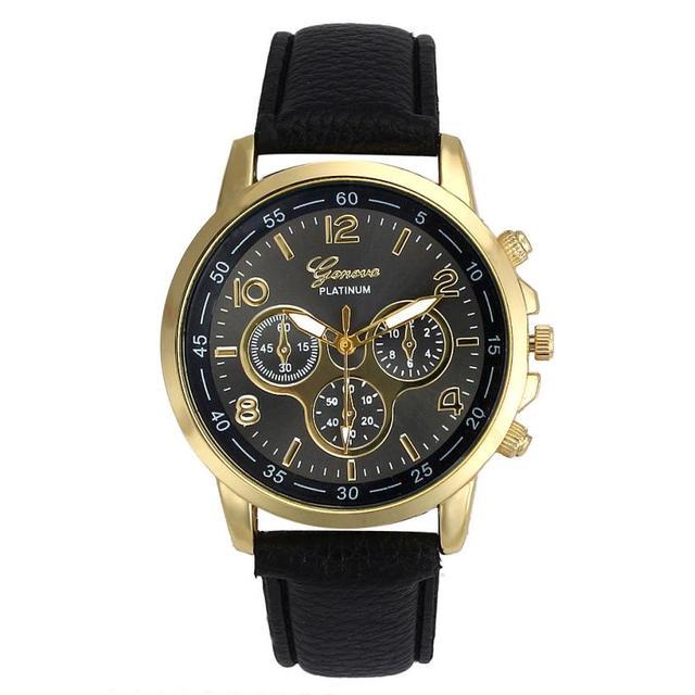 Fashion Women Men Watch Unisex Watches Casual Faux Leather Quartz Analog Wrist W