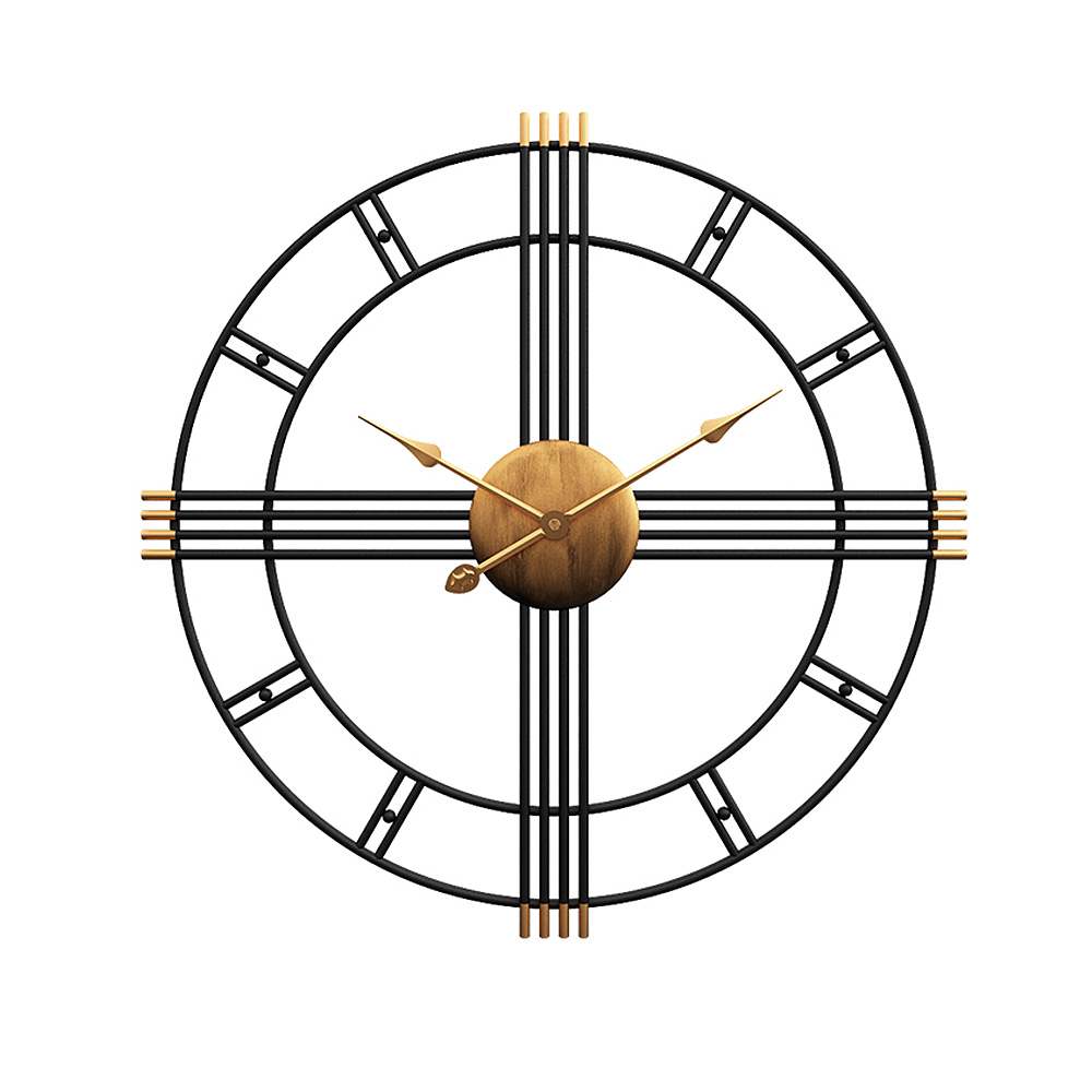 Rétro métal muet horloges murales horloge silencieuse maison bureau Quartz montre murale horloge ronde montre murale décor