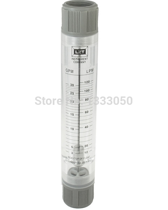 Free Shipping Water Liquid Flow Meter Tool Flowmeter Instrument 3-30 GPM 12-120 LPM цена