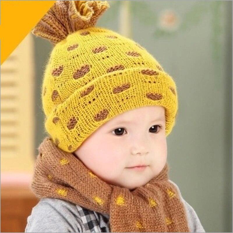 ᗜ Ljഃ2 unids sombreros del bebé caliente gorras de punto piña Cap + ...