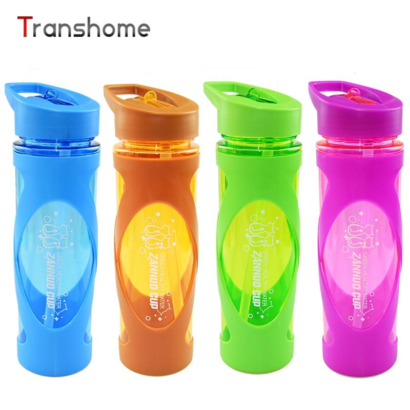 Transhome My Drink Bottle With <font><b>Straw</b></font> 580ml New <font><b>Fashion</b></font> Creative Leak Proof Drinkware <font><b>Plastic</b></font> Eco-friendly <font><b>Travel</b></font> Water Bottles