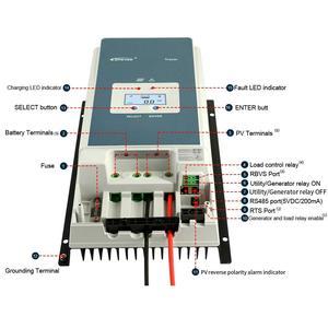 Image 5 - Controlador solar 60a 12 v 24 36 v 48 v do carregador de mppt do tracer epever regulador solar do lcd da luz de fundo automático para a entrada 6415an máxima do pv 150 v