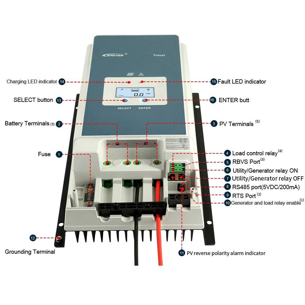 epever 50a mppt controlador de carga solar 04