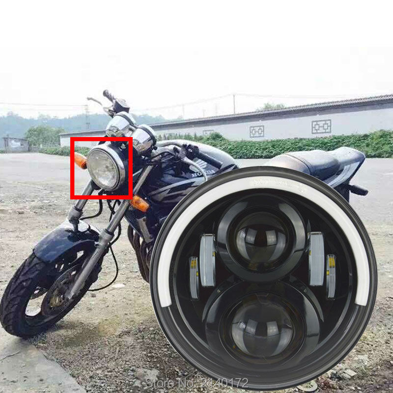 Светодиодная фара для мотоцикла, 7 дюймов, дальний/ближний свет, с ангельскими глазами, для Honda CB400 500 1300 Hornet 250 600 900 VTECVTR250
