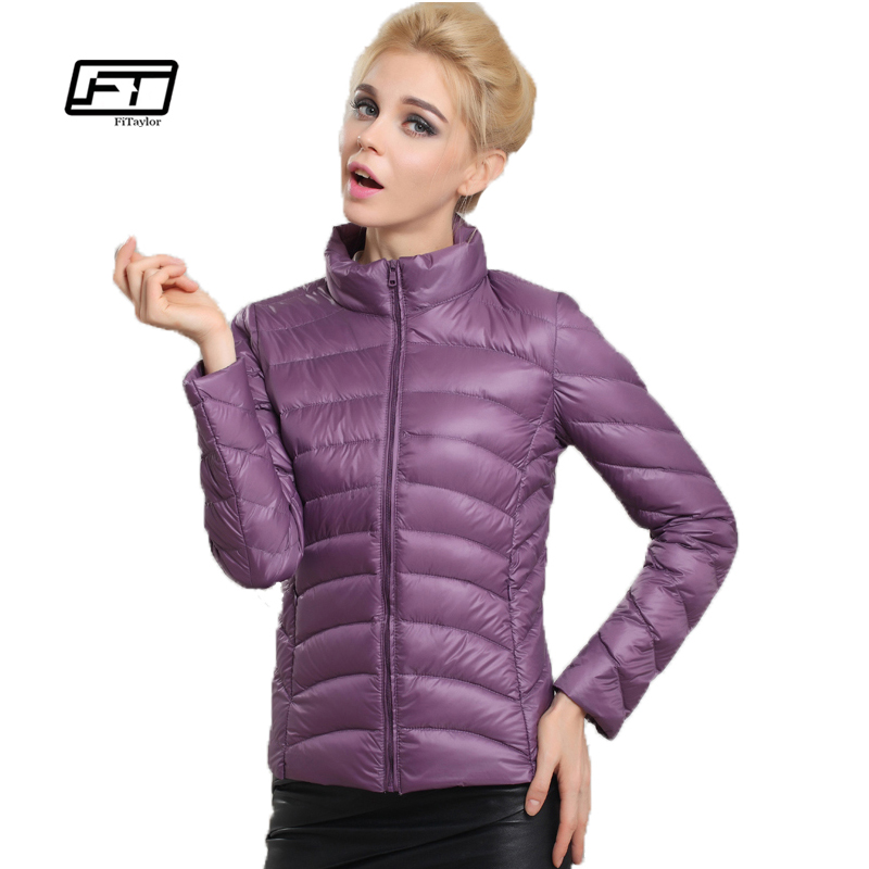 Fitaylor Spring Autumn Women Short Design Jackets Slim Casual Ultra Thin   Coat   Duck   Down   90% Jacket Inverno Jaqueta Feminina