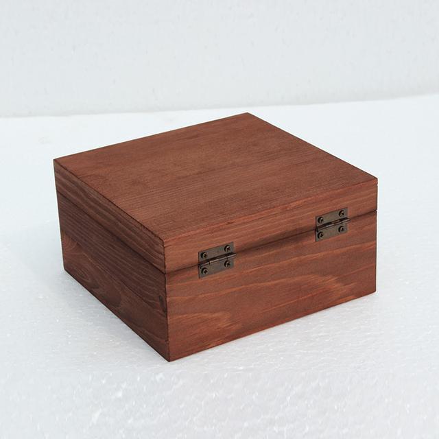 Retro Wooden desktop Storage Box with Lock
