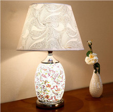 Buy mosaic lamp shade and get free shipping on aliexpress european artistic mosaic glass table lamps brief bright pvc shade double switch e27 audiocablefo