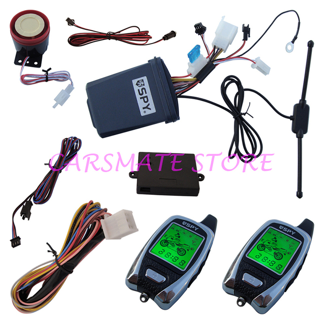 SPY Motorcycle 2 Way Alarm System Motorbike Two Way Alarm with LED Indicator & Microwave Sensor for 12V Motorcycles Carsmate