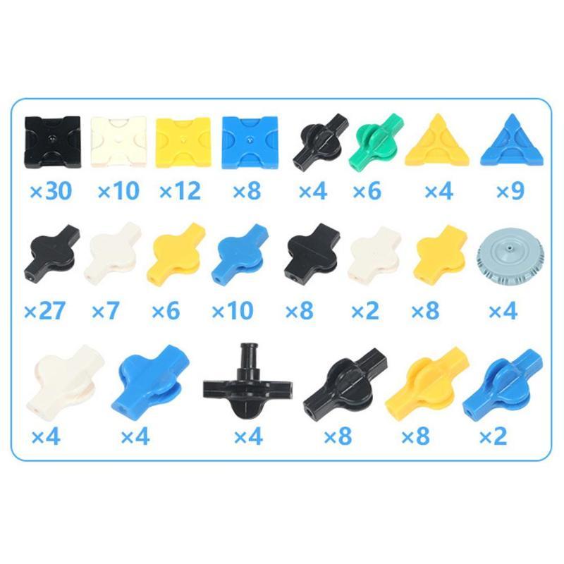 185Pcs/set ABS Plastic Kart Inserted Assembly Vechile Car Model Toys DIY Building Blocks Plate Educational Toy for Kids Children