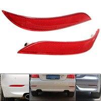 2Pcs Red Rear Left Right Bumper Reflector Tail Lights Bars Brake Parking Warning Bumper Lamb For