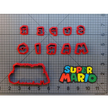 Video Game Character Cookie Cutter Super Mario Cake Decorating Tool Custom 3D printed Biscuits Press Baking Mould