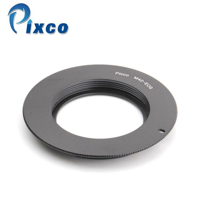 Pixco adaptador de lente M42 for EOS, anillo adaptador lente M42 para adaptarse a cámara Canon (negro), para cámara Canon EOS DSLR