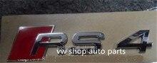Car Chrome Badge Emblem  OEM quality 'RS4' for Audi A4 S4 Avant quattro for audi a8 a8l emblem rear chrome oem quality 4e0853741a2zz