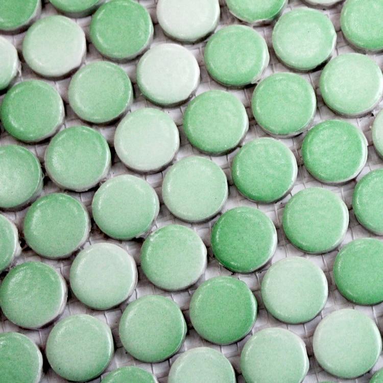 green color round ceramic mosaic bathroom shower floor wall tiles in mosaic kitchen backsplash. Black Bedroom Furniture Sets. Home Design Ideas