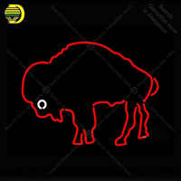 Neon Sign for Buffalo Bills Primary 7 7 Logo Decorate room wall Handcrafted Neon lights Sign glass Tube Iconic Advertise Custom
