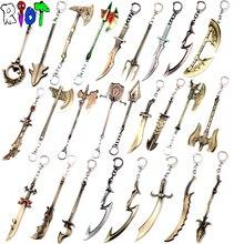 12 см Лига Легенда Герой альянса брелок оружия модель цепочка для ключей LOL игры аксессуары брелок для мужчины и женщины поклонников подарок