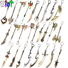 25 types Hero alliance keychain League of Legends weapons model key chain LOL game accessories keyring for man and woman funs