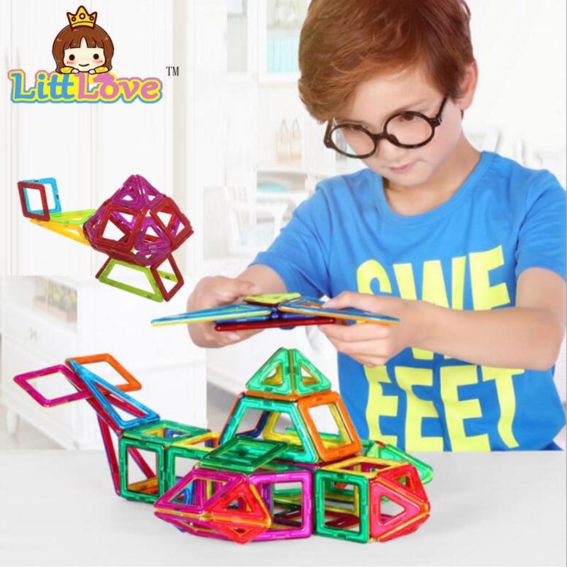 Mini 47PCS Magnetic Designer Construction Building Blocks Kids Toys Educational Plastic Bricks Technic Assembly Enlighten Toys