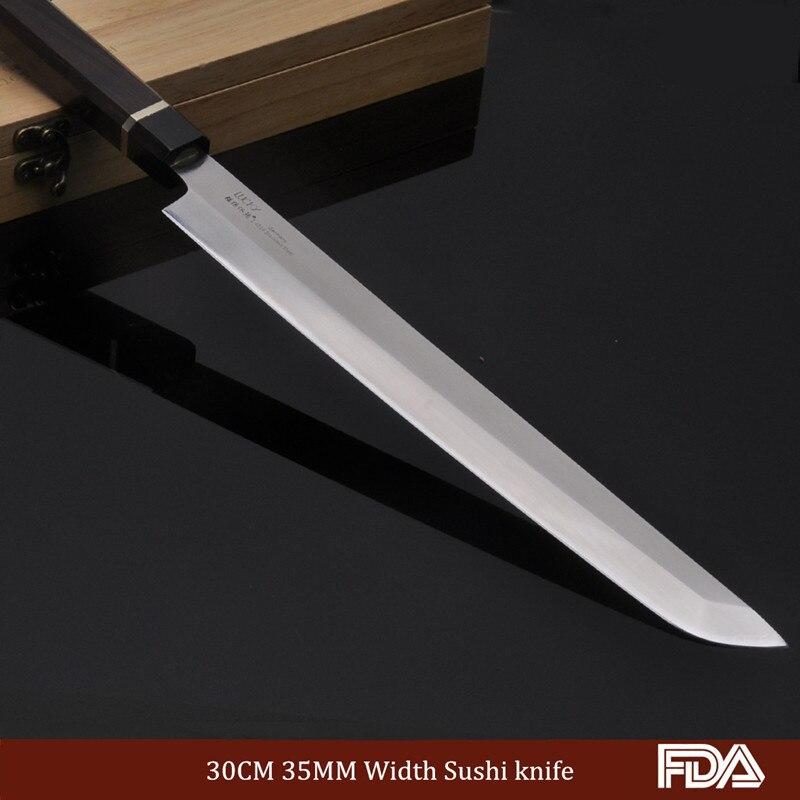 30 cm Gokujos Wasabi couteau coupe pêche japon PRO Chef couteau cuisine outil de cuisson allemagne acier octogonal ébène poignée 7.1.W