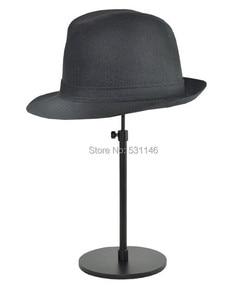 Image 2 - Ayarlanabilir Metal Şapka Ekran Standı/Asma şapka kapağı raf tutucular Siyah 5 ADET