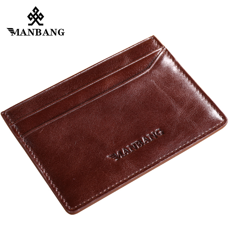 ManBang Men Wallet Genuine Leather wallet card cover card layer cattle thin simple drivi ...