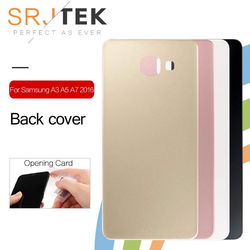 Srjtek Back Cover For <font><b>SAMSUNG</b></font> Galaxy A5 2016 A510 <font><b>A510F</b></font> A510M A510FD Housing Battery Door Case With Adhesive Repair image