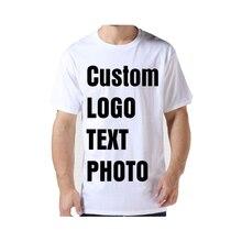Индивидуальная индивидуальная Мужская футболка с принтом собственного