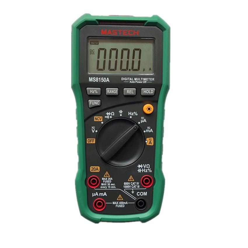 Mastech MS8150A Professional Digital Multimeter For Electrician Multimetro Autorange AC/DC V/A Res Cap Fre Duty Cycle Meter