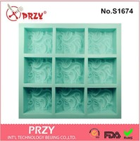 Wholesales 9 cavity clouds soap mold Silicone Cake pan Chocolate Soap Pudding Jelly Candy Ice Cookie Biscuit Mold