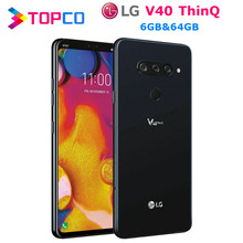 LG V40 ThinQ V405UA orijinal Unlocked LTE NFC Android cep telefonu Snapdragon 845 Octa çekirdek 6.4