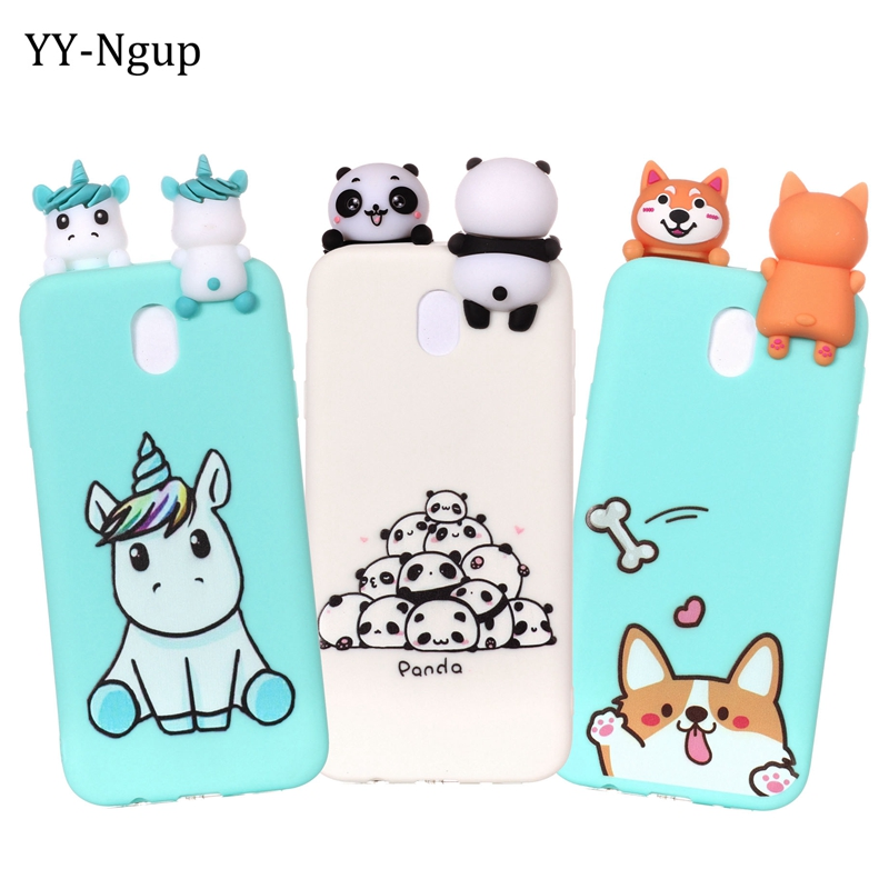 Coque for <font><b>Samsung</b></font> Galaxy J5 2017 Phone <font><b>Case</b></font> 3D Unicorn Panda <font><b>Dog</b></font> Silicone <font><b>Case</b></font> Cover on sFor <font><b>Samsung</b></font> J5 J3 <font><b>J7</b></font> 2017 EU <font><b>Case</b></font> Women image