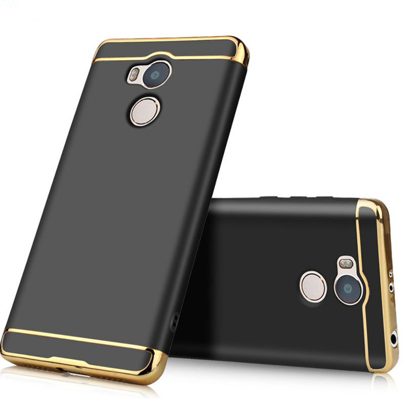 kovader 3 in 1 Full Cover Plating Case For Xiaomi Redmi Note 5A plus Anti-Knock Plastic Phone Protective Note5A plus Case Coque
