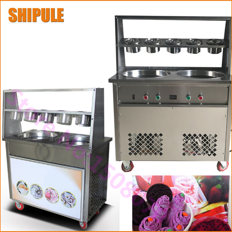2017 New ice cream maker commercial fried ice cream machine make roll ice cream ice frying machine shipule fried ice cream machine roll machine ice cream maker