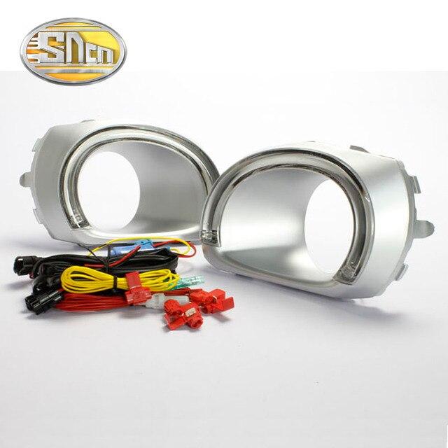 Для Subaru Outback 2010-2012, Выключите Стиль Реле Водонепроницаемый ABS случае Автомобиль DRL 12 В СВЕТОДИОДНЫМИ Фарами Дневного Света С Противотуманной фары отверстие