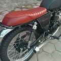 Brown Vintage Flat Cover Seat Saddle Universal Cafe Racer Seat For Suzuki GS Yamaha XJ Honda CB