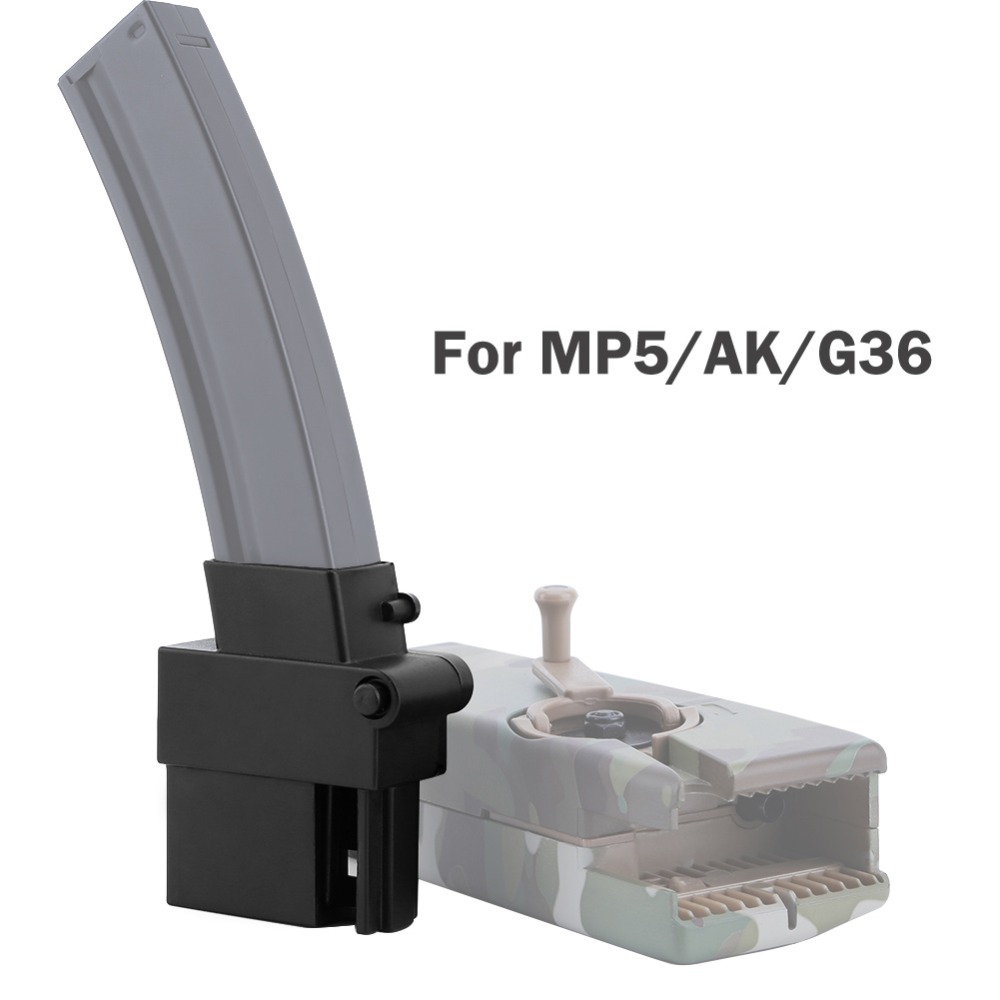 Tactical Military Airsoft AK G36 MP5 BB Loader Converter Paintball Accessories Adapt With M4 BB Speed Loader