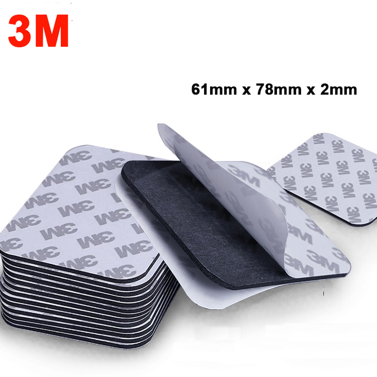 5pcs 78x61x2mm 3M 9080 Double Sided Adhesive Black EVA Foam Tape Pad Mounting Tape Auto Car Decorative Home Use