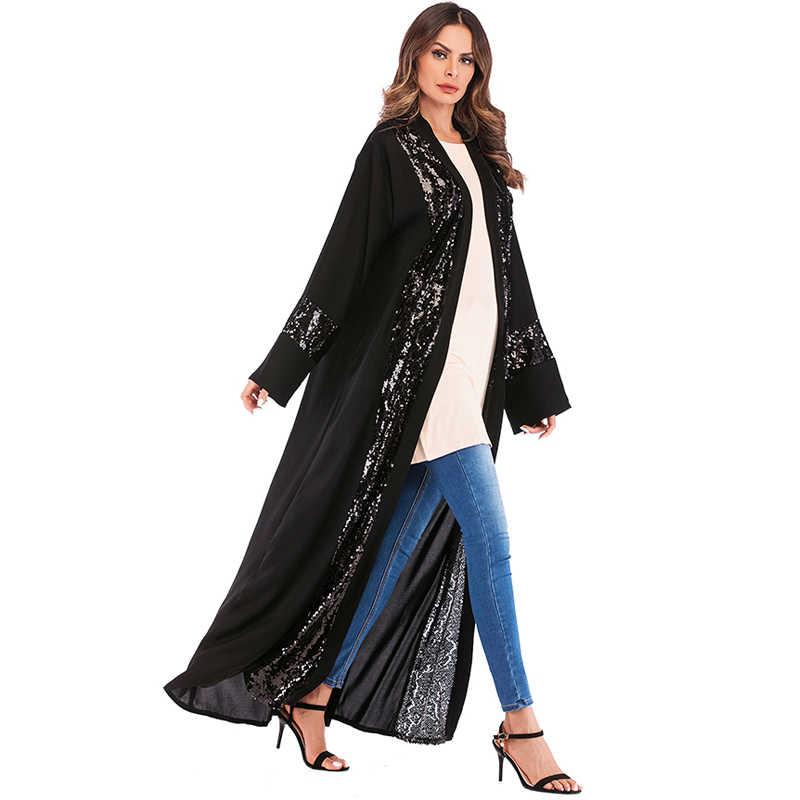 ca03c849e ... Plus Size Women Kimonos Mujer Vetement Femme 2019 Long Sequined Kimono  Cardigan Roupa Feminina Clothes Korean ...