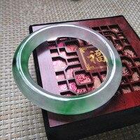 100 Natural Burmese Stone Violet Green Purple Bracelets Appraisal Certificate Gift Box1